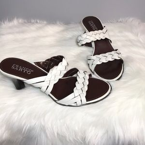 Franco Sarto white Leather upper sandals